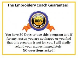 Embroidery Coach Guarantee