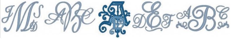 Monogram Strip for Website