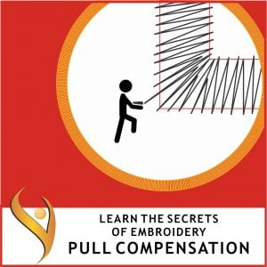 Embroidery Push and Pull Compensation
