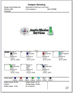 Always sew out your embroidery design worksheet