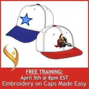 Embroidery On Caps Made Easy