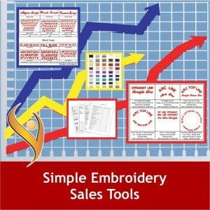 Simple Embroidery Sales Tools