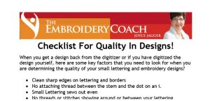 Checklist For Quality In Design